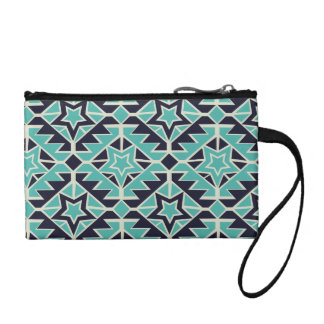 Aztec turquoise and navy coin purse