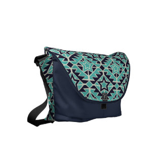 Aztec turquoise and navy commuter bags