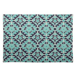 Aztec turquoise and navy placemat