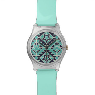 Aztec turquoise and navy watch