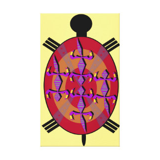 Aztec Turtle Canvas Print