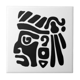 Aztec Warrior Ceramic Tile