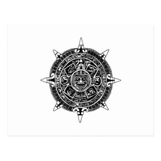 Aztec's Calendar Postcard