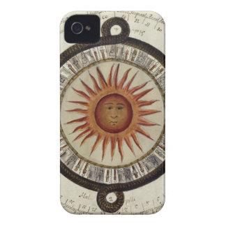 Aztecs Mexican Calendar Sundial Sun 1790 vintage iPhone 4 Covers