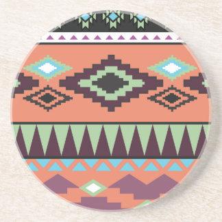 Aztek Tribal Southwestern Geometric Drink Coasters