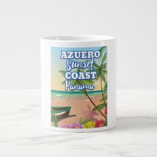 Azuero Sunset Coast Panama Beach travel poster Large Coffee Mug