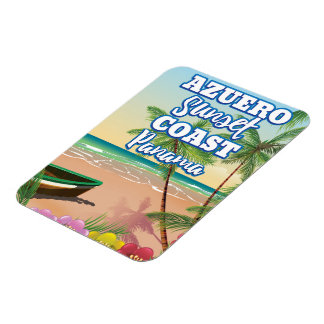 Azuero Sunset Coast Panama Beach travel poster Magnet