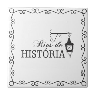 Azujejo Rivers of History Small Square Tile