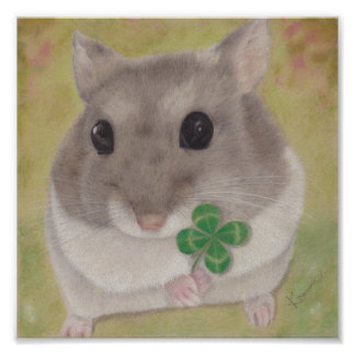 Azuki and a Four Leaf-Clover Poster Paper (Matte)