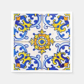 Azulejo Art Tile Disposable Serviettes