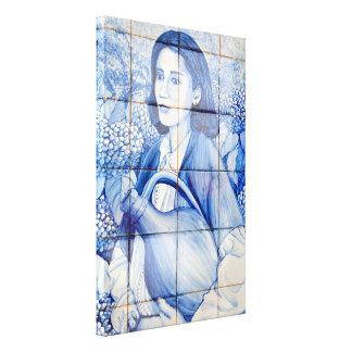 Azulejo mural canvas print