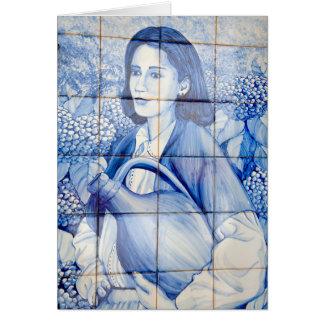 Azulejo mural card