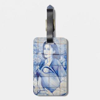 Azulejo mural luggage tag