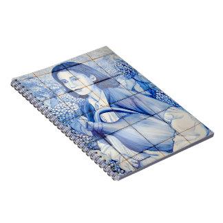 Azulejo mural spiral notebook