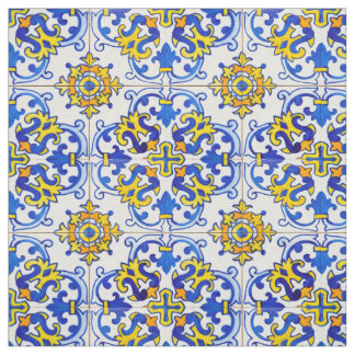 Azulejo Panel Tiles Fabric