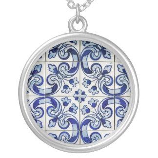Azulejo Round Pendant Necklace