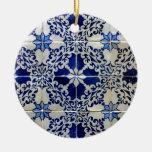Azulejos, Portuguese Tiles Round Ceramic Decoration