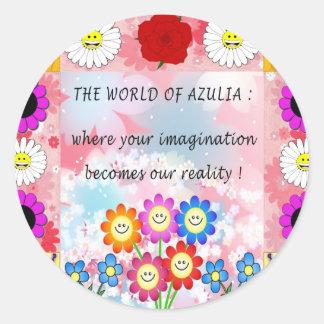 Azulia Patch Round Sticker