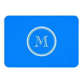 Azur High End Colored Monogram Initial 9 Cm X 13 Cm Invitation Card