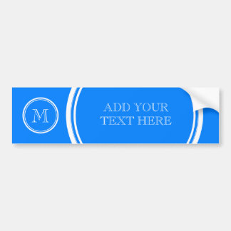 Azur High End Colored Monogram Initial Bumper Stickers