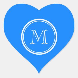 Azur High End Colored Monogram Initial Heart Sticker
