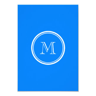 Azur High End Colored Monogram Initial Custom Invite