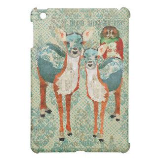 Azure & Amber Deer & Rose Owl iPad Case