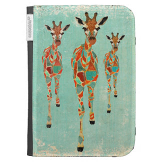 Azure & Amber Giraffes Case Case For The Kindle
