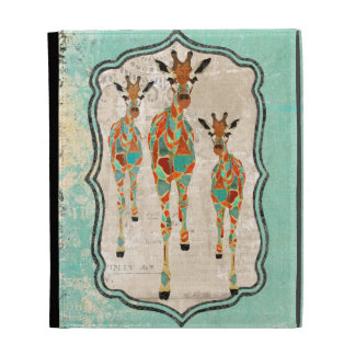 Azure & Amber Giraffes Caseable Case iPad Case
