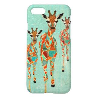 Azure & Amber Giraffes iPhone 8/7 Case
