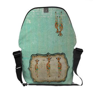 Azure & Amber Giraffes Messenger Bag