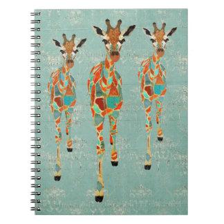 Azure & Amber Giraffes Notebook