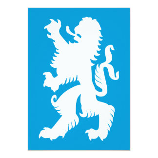 Azure and White Bavarian Lion Card