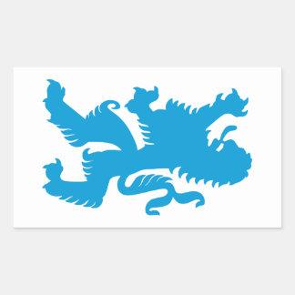Azure Bavarian Lion Rectangular Sticker