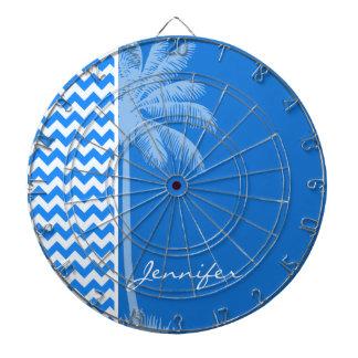 Azure Blue Chevron; Summer Palm Dart Boards