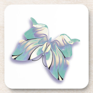 azure butterfly beverage coaster