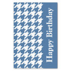 Azure Elegant Houndstooth with custom text Tissue Paper