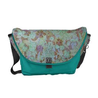 Azure Floral Rickshaw Messenger Bag