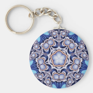 Azure Jewel Kaleidoscope Key Chains