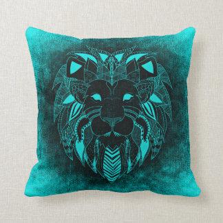Azure Lion, Ornamental Lion Pillow