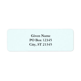 Azure Return Address Label