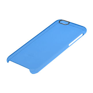 Azure Solid Colour Customise It Clear iPhone 6/6S Case