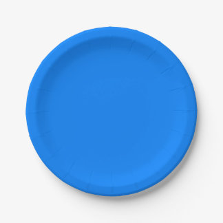 Azure Solid Colour Customise It Paper Plate