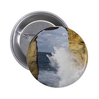 Azure Window 6 Cm Round Badge