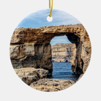 Azure Window in Malta Ceramic Ornament