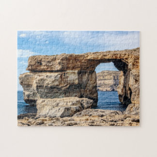 Azure Window in Malta Jigsaw Puzzle
