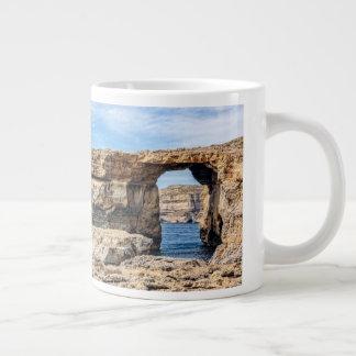 Azure Window in Malta Large Coffee Mug