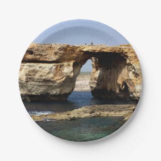 Azure Window Paper Plate