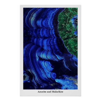 Azurite and Malachite Poster