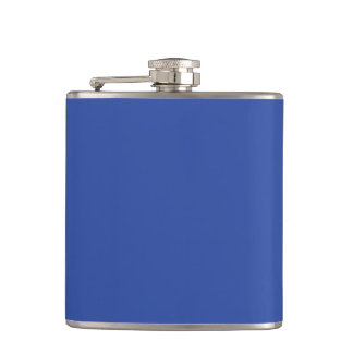 Azurite Royal Blue Personalized Trend Background Hip Flask